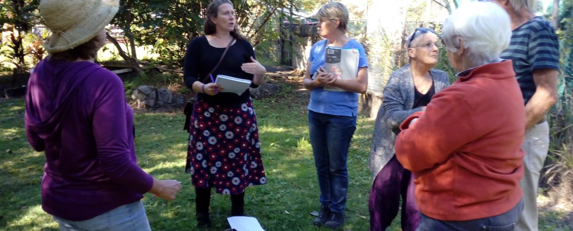 Preparing for the garden redesign with Morag Gamble